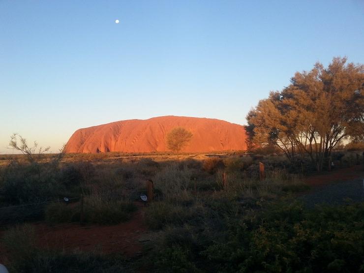 Uluru tramonto