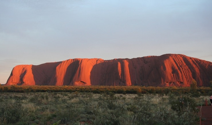 Uluru alba australia